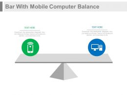 Bar With Mobile Computer Balance Powerpoint Slides