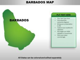 Barbados Country Powerpoint Maps