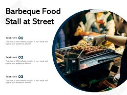 Barbeque Food Stall At Street