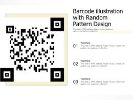 Barcode Illustration With Random Pattern Design