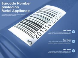 Barcode Number Printed On Metal Appliance