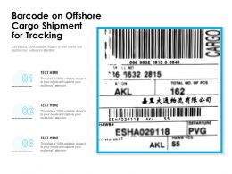Barcode On Offshore Cargo Shipment For Tracking
