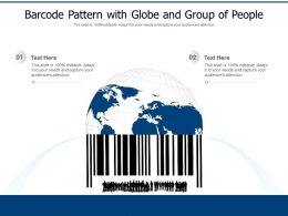 Barcode Pattern With Globe And Group Of People