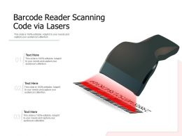 Barcode Reader Scanning Code Via Lasers