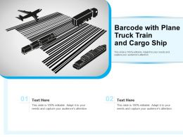 Barcode With Plane Truck Train And Cargo Ship