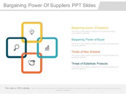 Bargaining Power Of Suppliers Ppt Slides