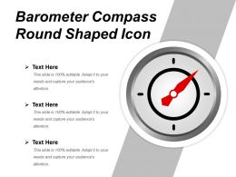 Barometer Compass Round Shaped Icon