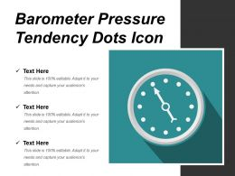 Barometer Pressure Tendency Dots Icon