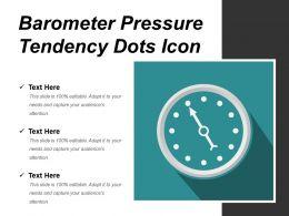 Barometer Pressure Tendency Dots Icon