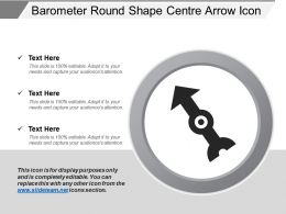 Barometer Round Shape Centre Arrow Icon