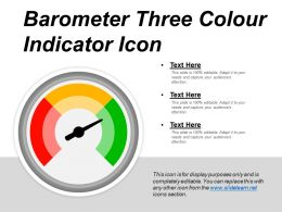 Barometer Three Colour Indicator Icon