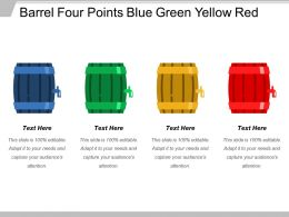 Barrel Four Points Blue Green Yellow Red