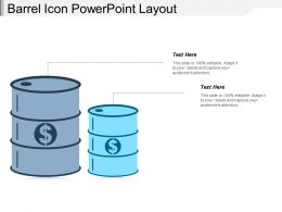 Barrel Icon Powerpoint Layout