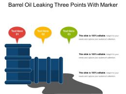 Barrel Oil Leaking Three Points With Marker