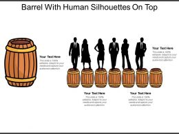 Barrel With Human Silhouettes On Top