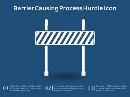 Barrier Causing Process Hurdle Icon