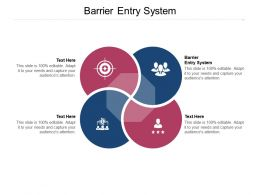 Barrier Entry System Ppt Powerpoint Presentation Gallery Graphic Tips Cpb