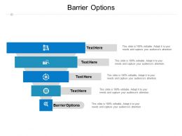 Barrier Options Ppt Powerpoint Presentation Gallery Themes Cpb