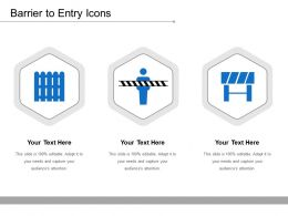 Barrier To Entry Icons