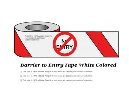 Barrier To Entry Tape White Colored