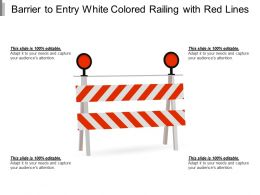 Barrier To Entry White Colored Railing With Red Lines