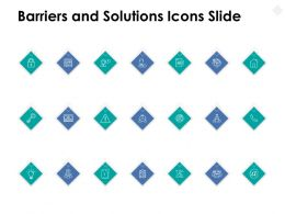 Barriers And Solutions Icons Slide Security Threat Ppt Powerpoint Presentation File Tips