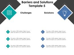 Barriers And Solutions Template Business Management Ppt Powerpoint Presentation
