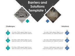 Barriers And Solutions Template Security Technology Ppt Powerpoint Presentation File Ideas