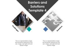 Barriers And Solutions Template Two Stages Ppt Powerpoint Presentation File Sample