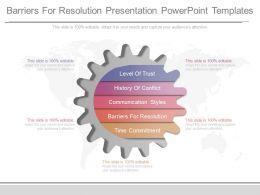 16347846 Style Variety 1 Gears 5 Piece Powerpoint Presentation Diagram Infographic Slide