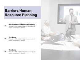 Barriers Human Resource Planning Ppt Powerpoint Presentation Layouts Cpb