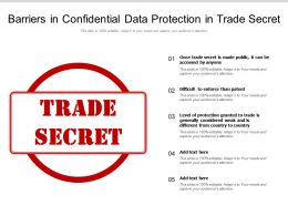 Barriers In Confidential Data Protection In Trade Secret