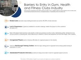 Barriers To Entry In Gym Health And Fitness Clubs Industry Health And Fitness Clubs Industry Ppt Grid