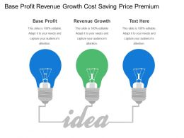 Base Profit Revenue Growth Cost Saving Price Premium