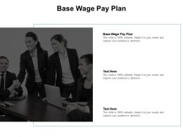 Base Wage Pay Plan Ppt Powerpoint Presentation Inspiration Microsoft Cpb