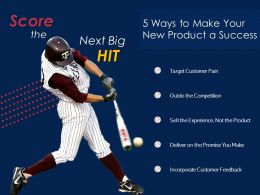 Baseball And Business New Product Launch Success Strategies For Startup