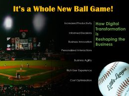 Baseball Game Digital Transformation Business Impact