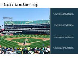 Baseball Game Score Image
