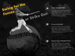Baseball Game Swing Business Risk Management Decision Making