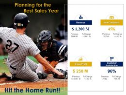 Baseball Home Run for Sales Growth Sale Target Success Achievement
