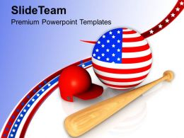 Baseball Is The National Game Of USA PowerPoint Templates PPT Themes And Graphics 0713