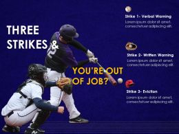 Baseball Rules Three Strikes Employee Management Work Warnings