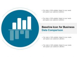Baseline Icon For Business Data Comparison