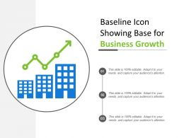 Baseline Icon Showing Base For Business Growth