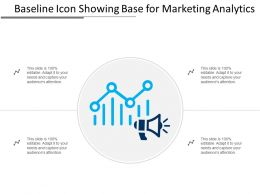 Baseline Icon Showing Base For Marketing Analytics
