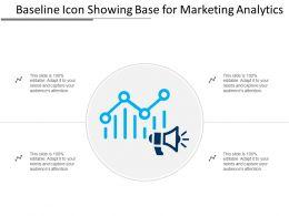 Baseline Icon Showing Base For Marketing Analytics