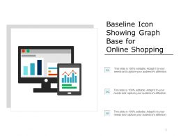 Baseline Icon Showing Graph Base For Online Shopping