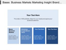 Bases Business Markets Marketing Insight Brand Value Internal Records