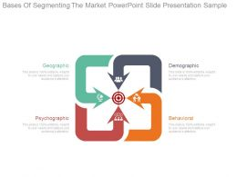 Bases Of Segmenting The Market Powerpoint Slide Presentation Sample