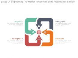 Bases Of Segmenting The Market Powerpoint Slide Presentation Sample